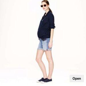 J. Crew maternity jean shorts size 28